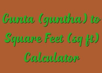 How to convert guntha into square feet,square meter,square yard.