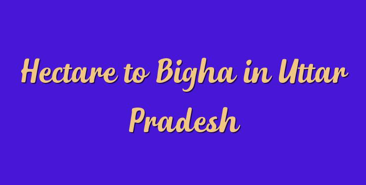 Hectare to Bigha in Uttar Pradesh - Simple Converter