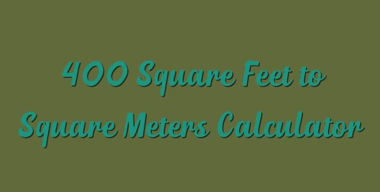 400 square meters to feet